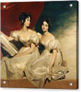A Double Portrait Of The Fullerton Sisters Acrylic Print by Sir Thomas Lawrence