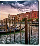 Surreal Seascape On The Grand Canal In Venice, Italy Acrylic Print