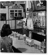 A Druggist Prepares Ice Cream Floats At A Soda Fountain Acrylic Print