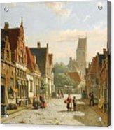 A Dutch Street In Summer Acrylic Print