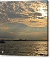 A Evening With Hudson River Acrylic Print