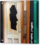A Face In The Door Acrylic Print