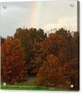 A Fall Rainbow Acrylic Print