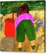 A Fall Walk On The Beach Acrylic Print