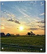 A Farmer's Morning 2 Acrylic Print