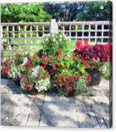 A Few Well Placed Pots Acrylic Print