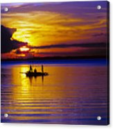 A Fisherman's Sunset  Acrylic Print