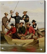 A Fishing Party Off Long Island Metal Acrylic Print