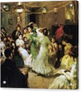 A Flamenco Party At Home Acrylic Print by Francis Luis Mora