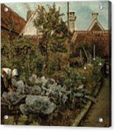 A Flemish Garden Acrylic Print