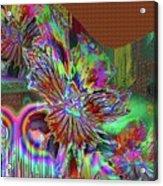A Foiled Pansy Acrylic Print