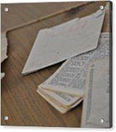 A Forgotten Text Acrylic Print