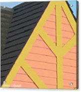 A-frame In Pastel Pink And Harvest Gold Yellow Acrylic Print