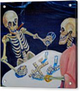 A Friendly Game Of Bones Acrylic Print