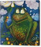 Frog In The Rain Acrylic Print