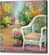 A Garden Chair Acrylic Print