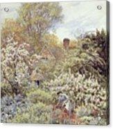 A Garden In Spring Acrylic Print