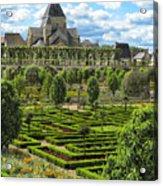A Garden View At Chateau De Villandry Acrylic Print
