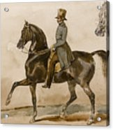A Gentleman On Horseback With A Subsidiary Study Of The Horse's Head Acrylic Print