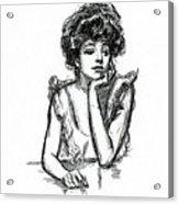 A Gibson Girl Posing Acrylic Print