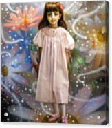 A Girl And A Seven Fairies 2 Acrylic Print
