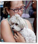 A Girl And Her Dog Acrylic Print