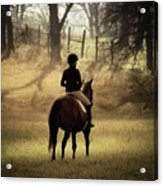A Girl And Her Horse Acrylic Print