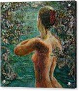 A Girl In Lake Acrylic Print
