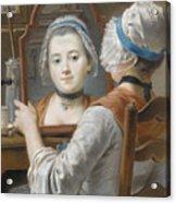 A Girl Wearing A Bonnet Acrylic Print