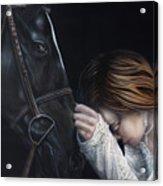 A Girl Who Loves Horses Acrylic Print