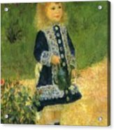 A Girl With A Watering Can 1876 Acrylic Print