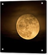 A Golden Super Moon On The Rise  Acrylic Print