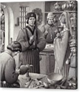 A Goldsmith's Shop In 15th Century Italy Acrylic Print