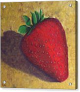 A Great Big Strawberry Acrylic Print