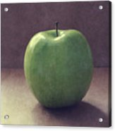 A Green Apple- Art by Linda Woods Acrylic Print
