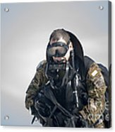 A Green Beret Emerges Onto Okaloosa Acrylic Print