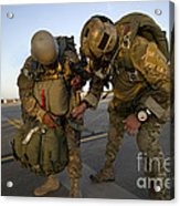 A Green Beret Inspects The Gear Acrylic Print