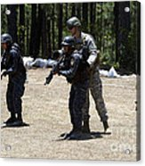 A Green Beret Instructs Tigres Trainees Acrylic Print