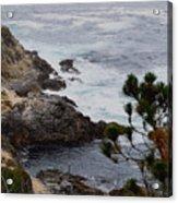 A Grey Day At Big Sur Acrylic Print