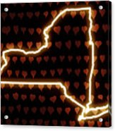 A Heart In New York Acrylic Print
