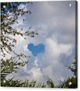 A Heart In The Sky Acrylic Print