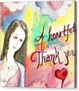 A Heartful Thank You Acrylic Print