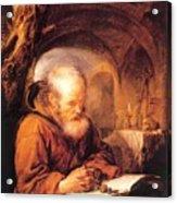 A Hermit Praying 1670 Acrylic Print