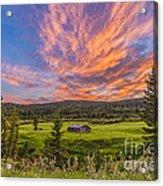 A High Dynamic Range Photo Of A Sunset Acrylic Print