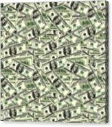 A Hundred Dollar Bill Banknotes Acrylic Print