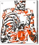 A J Green Cincinnati Bengals Pixel Art 5 Acrylic Print