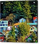 A Juneau Hillside  Acrylic Print