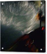 A Kayaker Negotiates Rapids Acrylic Print