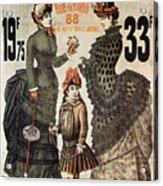 A La Tour St.jacques - Rue De Rivoli - Vintage Fashion Advertising Poster - Paris, France Acrylic Print