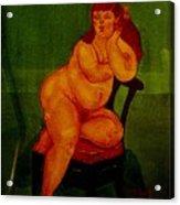 A Lady Acrylic Print